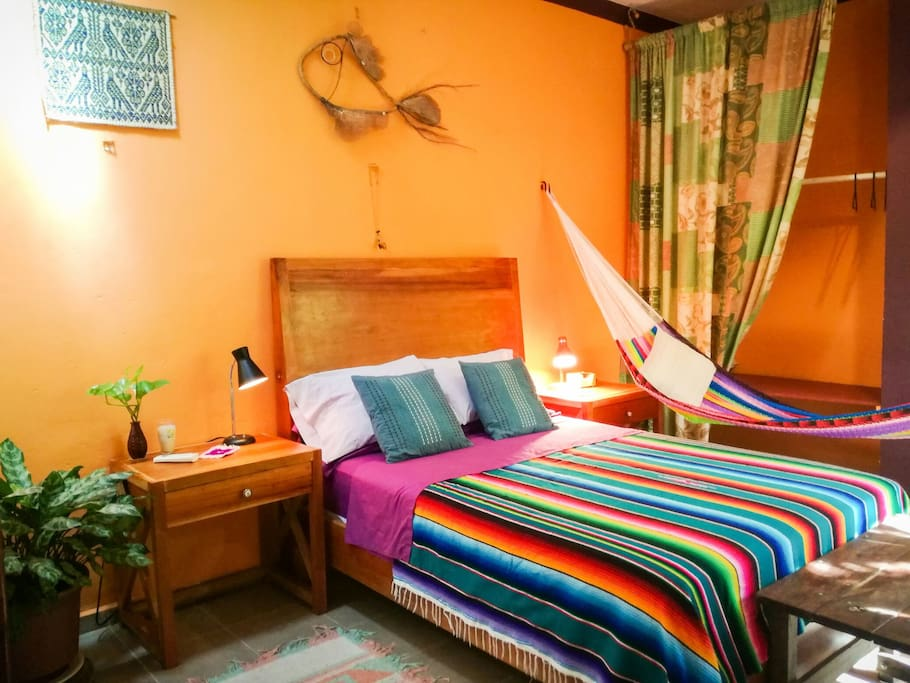 Double bed along with a comfy hammock for those afternoon siestas