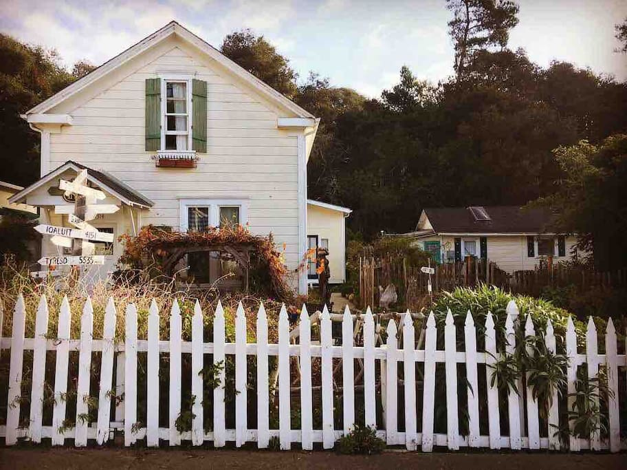 Need more space? Add the Tiny Garden Cottage.  The Inn and the Cottage combined can sleep up to 17 people.  Perfect for family reunions and retreats. Check out our listing on Airbnb.
