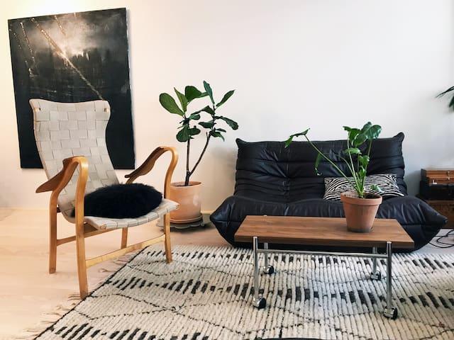 Specious, bright, designer home in Stockholm