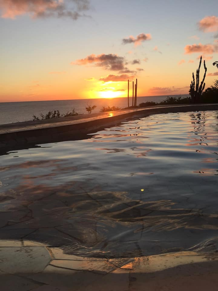 Villa Maria with great oceanview and infinity pool