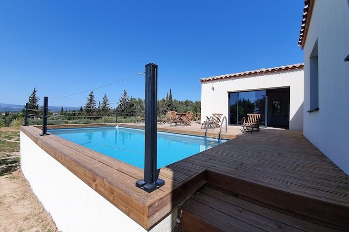 Spacious Holiday Home in Oupia with Private Pool