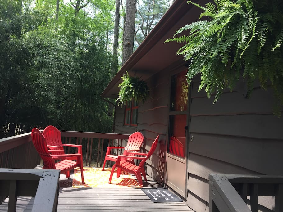 Modern cabin near great trails and downtown bungalows for Cabins near hendersonville nc