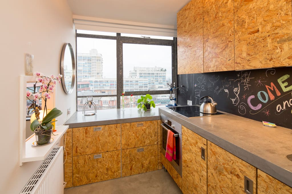 Zone 1 design flat in london for Aki kitchen cabinets