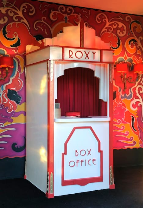 The Roxy's box office in the foyer