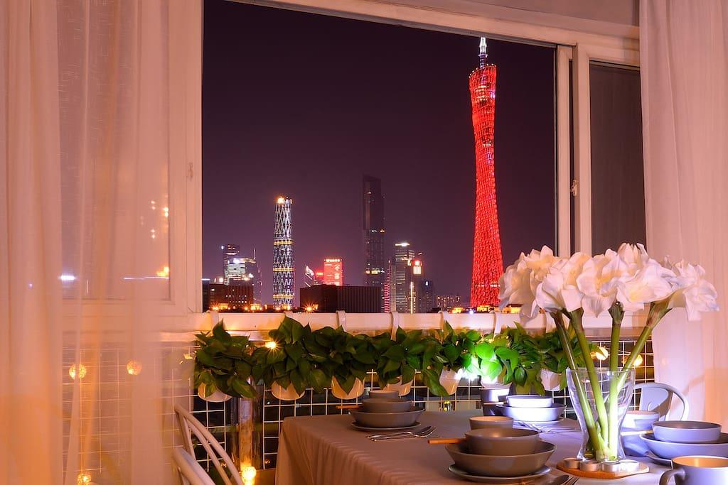 广州塔夜景