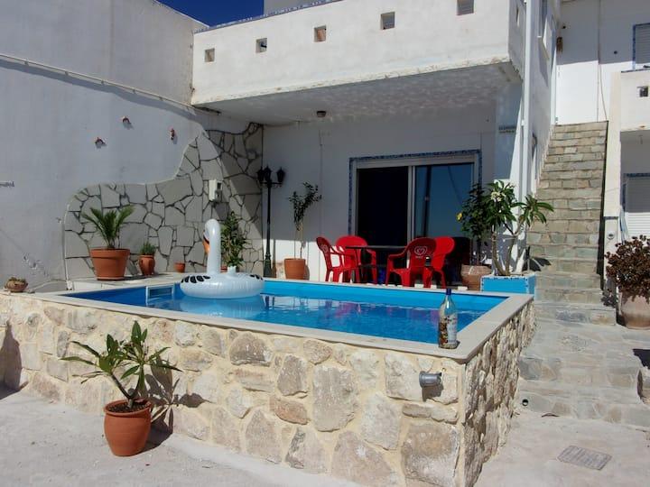 appartement 4 personnes avec piscine privée
