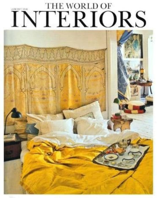 """Our place at the cover of """"The World of Interiors"""" june 2011"""