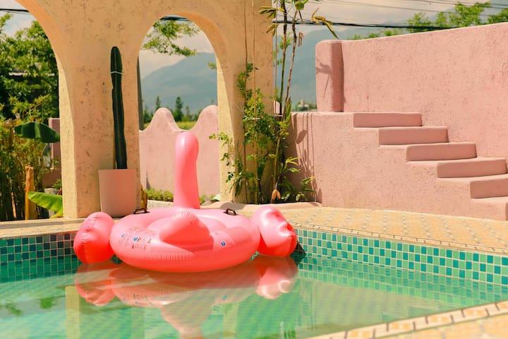 Tequila龙舌兰2号房—摩洛哥风格露天泳池影院大理网红打卡胜地可免费提供拍摄服装