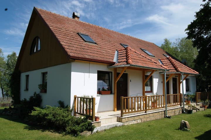Comfortable apartment with private terrace, 150 m from the beach and the lake Lipno