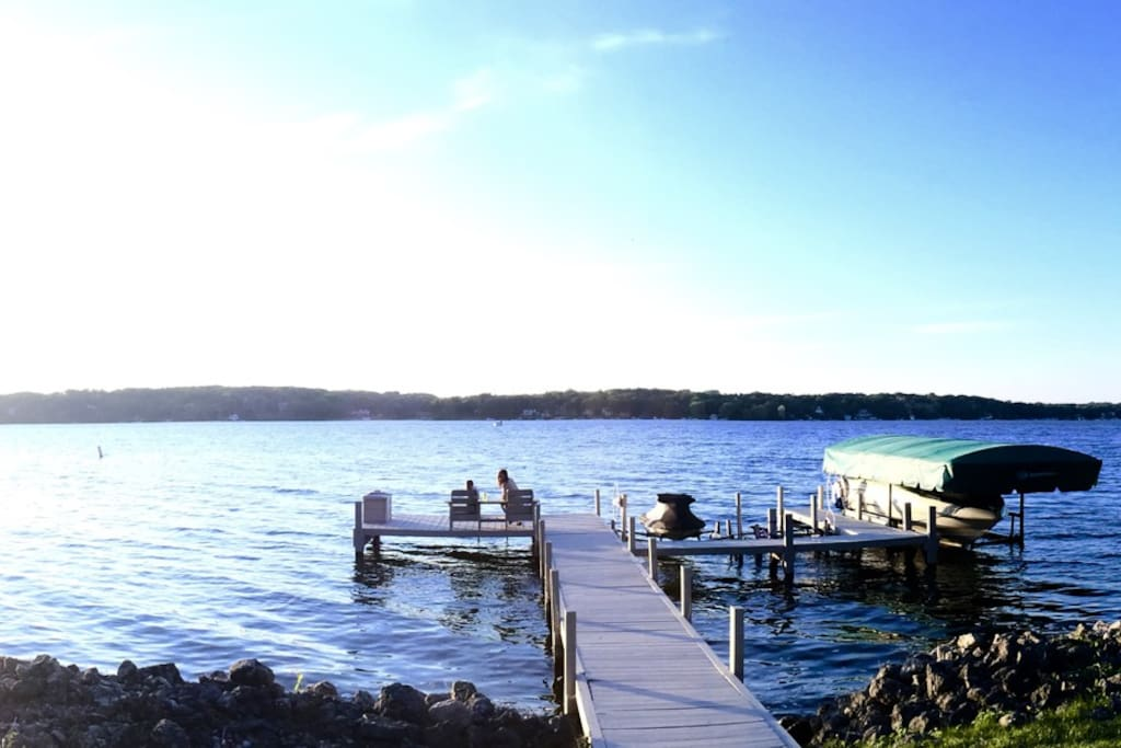 Fish or relax on your private pier.