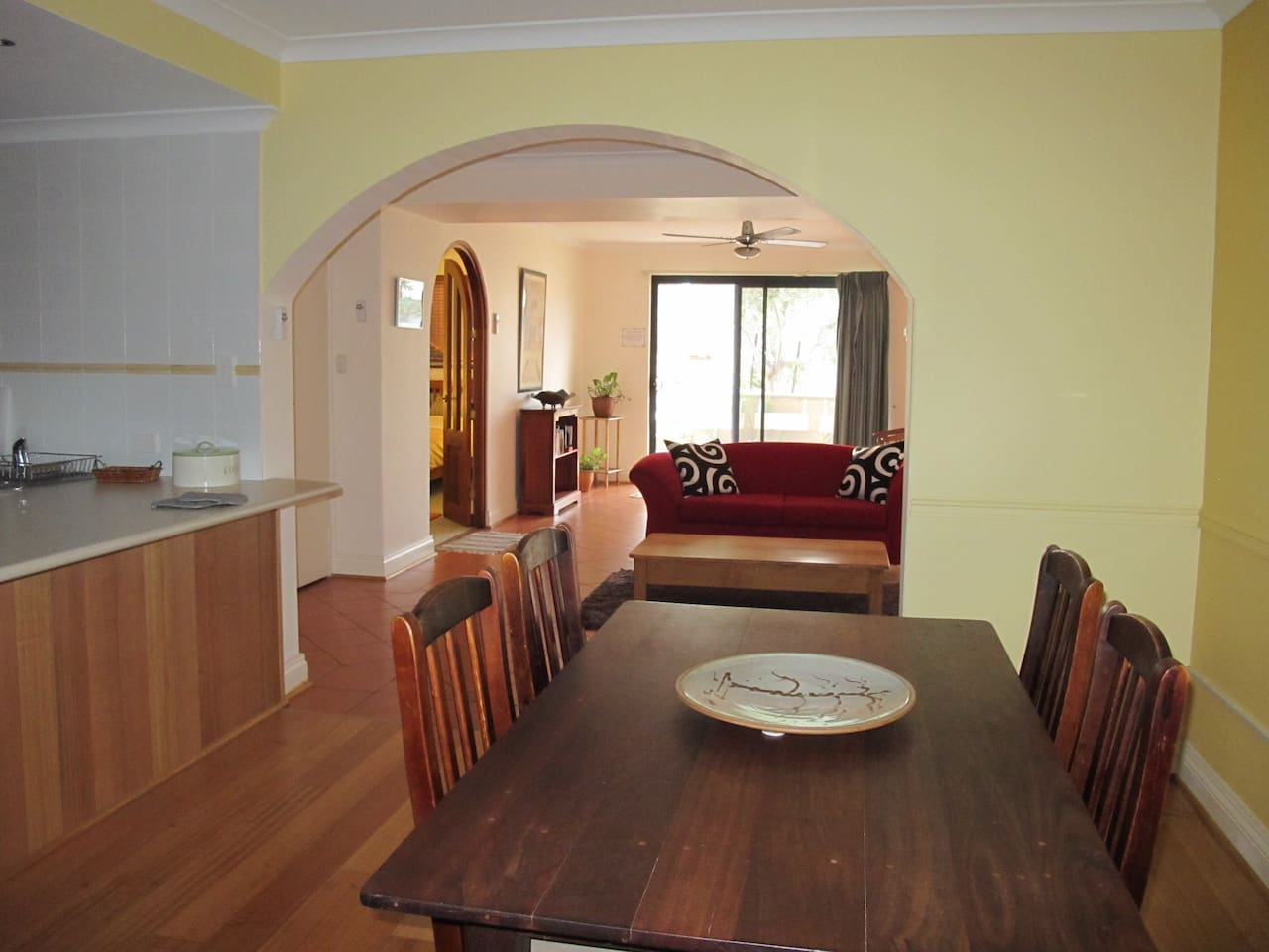 Dining room and living