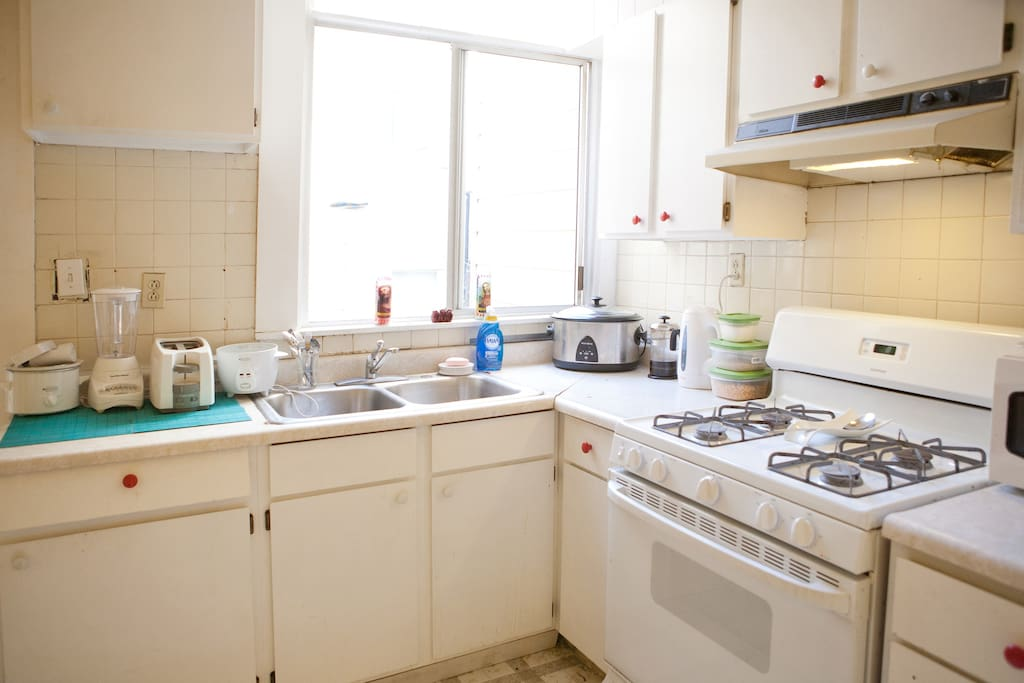 Clean and spacious kitchen.  I love to cook so there may be something on the stove during your stay.  If so, you get a free meal.