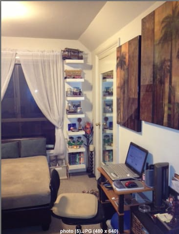 Living Room with Laptop Desk