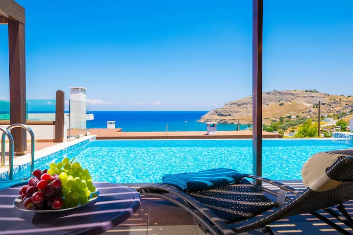"Sea View Villa""Ellada"", Just 3km From Lindos!"