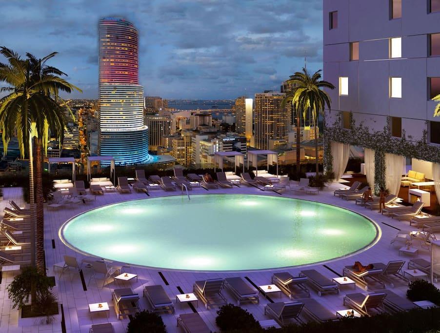 Main resort style pool.