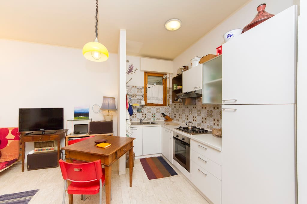 Kitchen with dishwasher and everything you need if you want to cook.