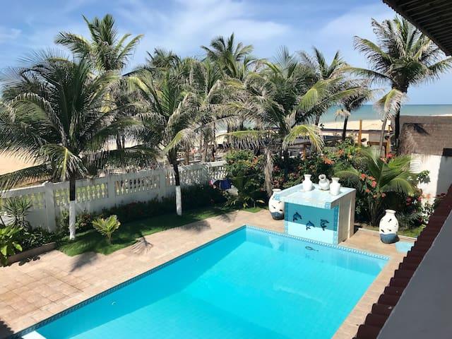 Villa Branca Cumbuco - Casa frente Mar
