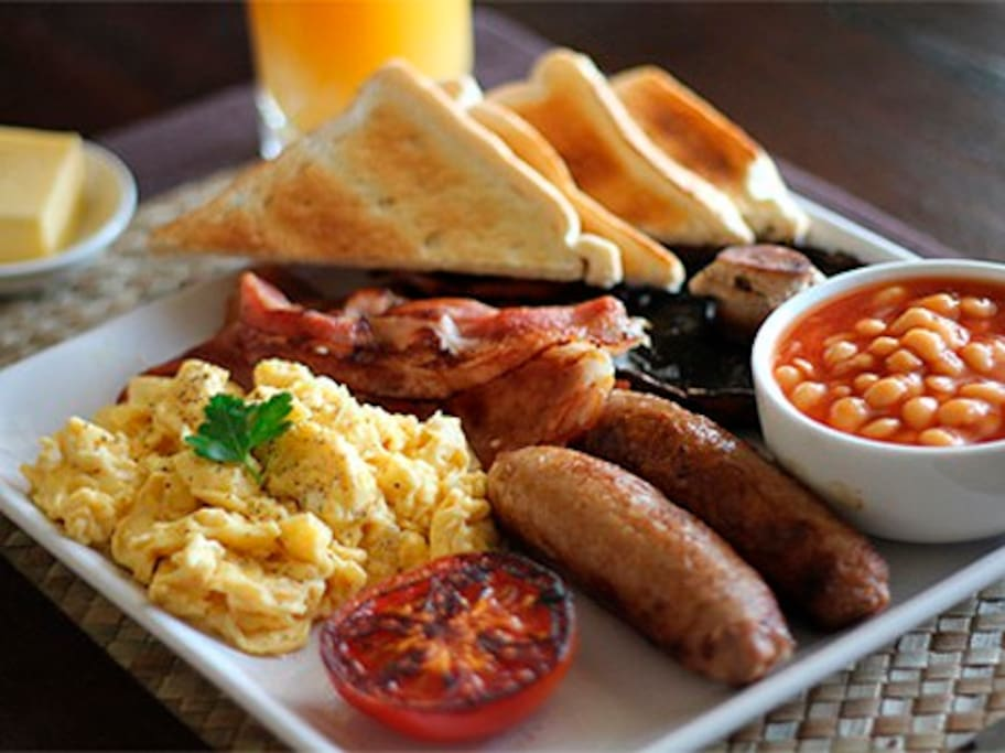 Rotorua City Homestay breakfast example. Menu changes daily depending on length of stay
