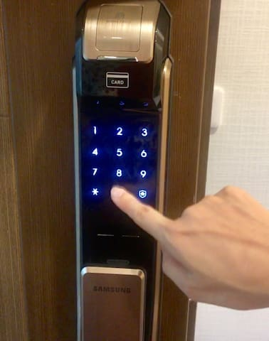 Express check in, check out with smart lock