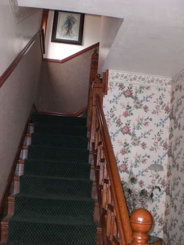 Up the stairs to your favorite furnished apartment!