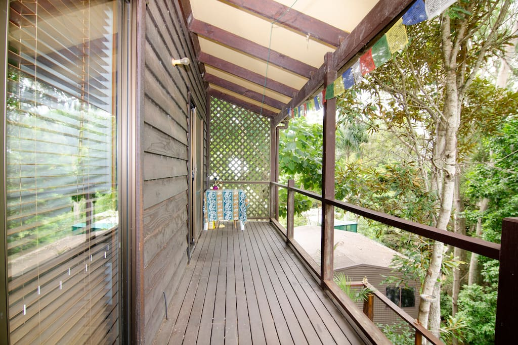 Balcony with access from both bedrooms with great views