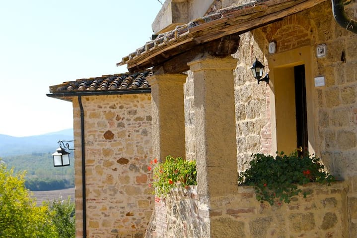 IMPETELLA The tuscan country view! - Chiusdino Siena - Apartamento