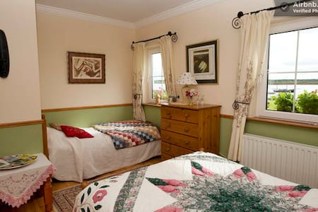 Bedroom with Panoramic Sea Views - Galway