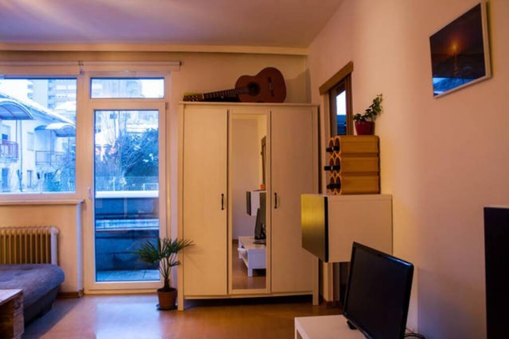 cupboard w/ plenty of space for longer stays