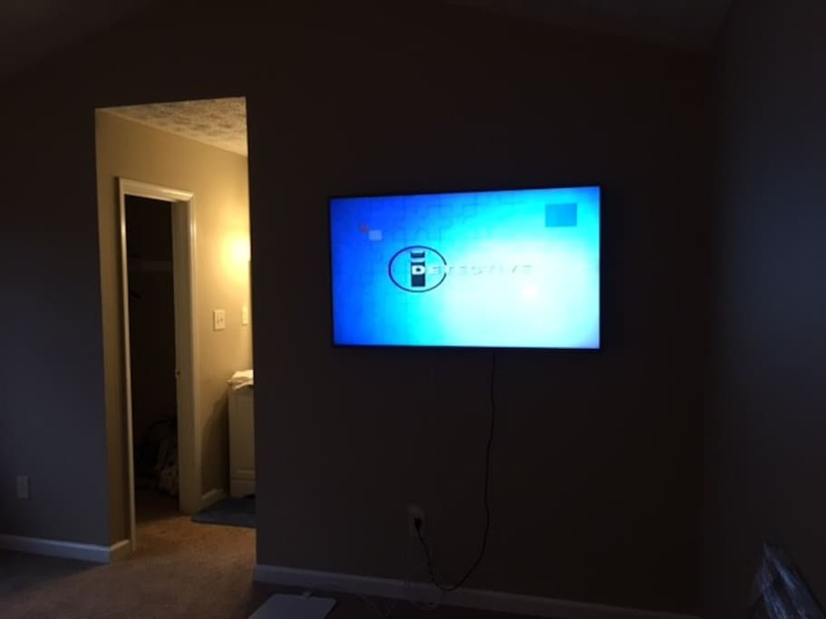 "55"" TV in master bedroom"