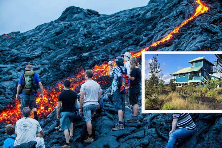 LAVA & OCEAN VIEWING HOME: serenity with Nature! - Kalapana - Casa