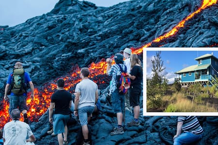 LAVA & OCEAN VIEWING HOME: serenity with Nature! - Kalapana