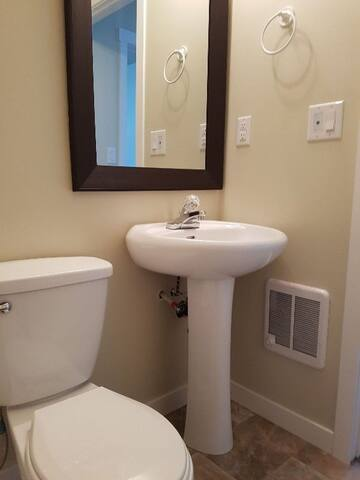 Furnished beautiful 1 bedroom basement suite.