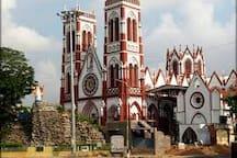 Church nearby railway station