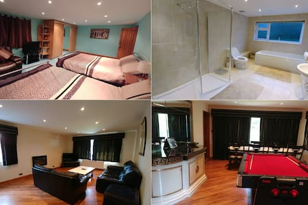 Large Room -  2 double beds,  private bathroom