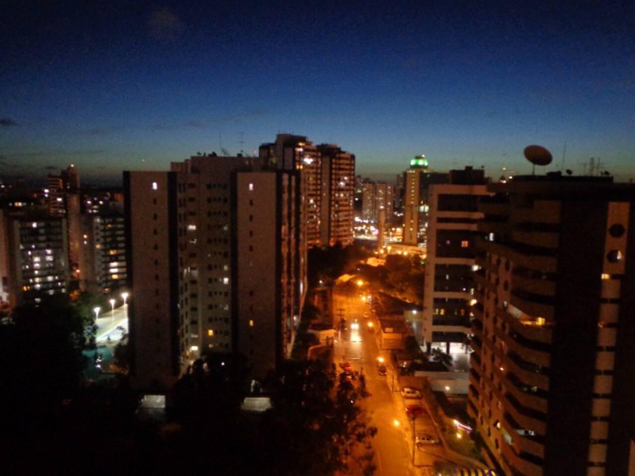 Night view from Caminho das Árvores. Very nice and safe area.