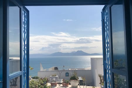 Boundless Blue House - Finest View in Sidi BouSaid