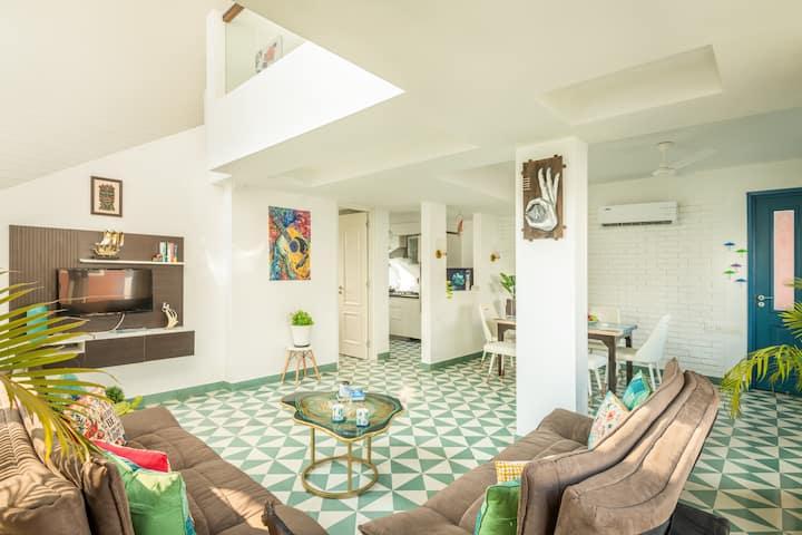 Elegant 2BHK Duplex in Siolim