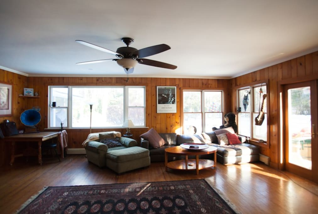 Living room/dining area:  the best room in the house.  comfortable, welcoming and spacious