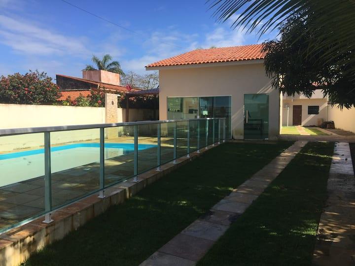 Casa a 50ms da beira mar de Serrambi, com piscina
