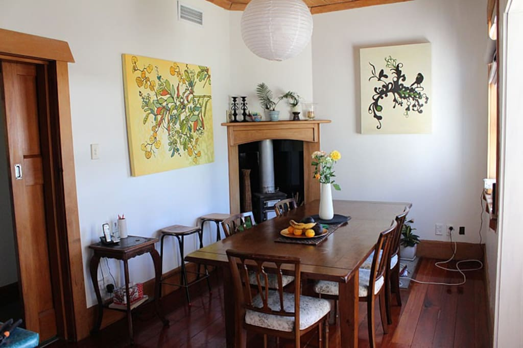 Dining Room looks out over the garden
