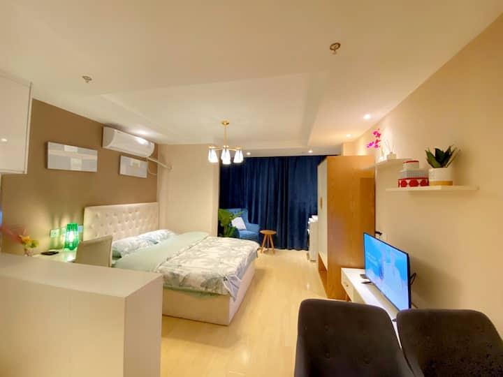 【优雅的家】 @轻奢生活 | 智能系统| 近高铁站 | 舒适享受+便携入住