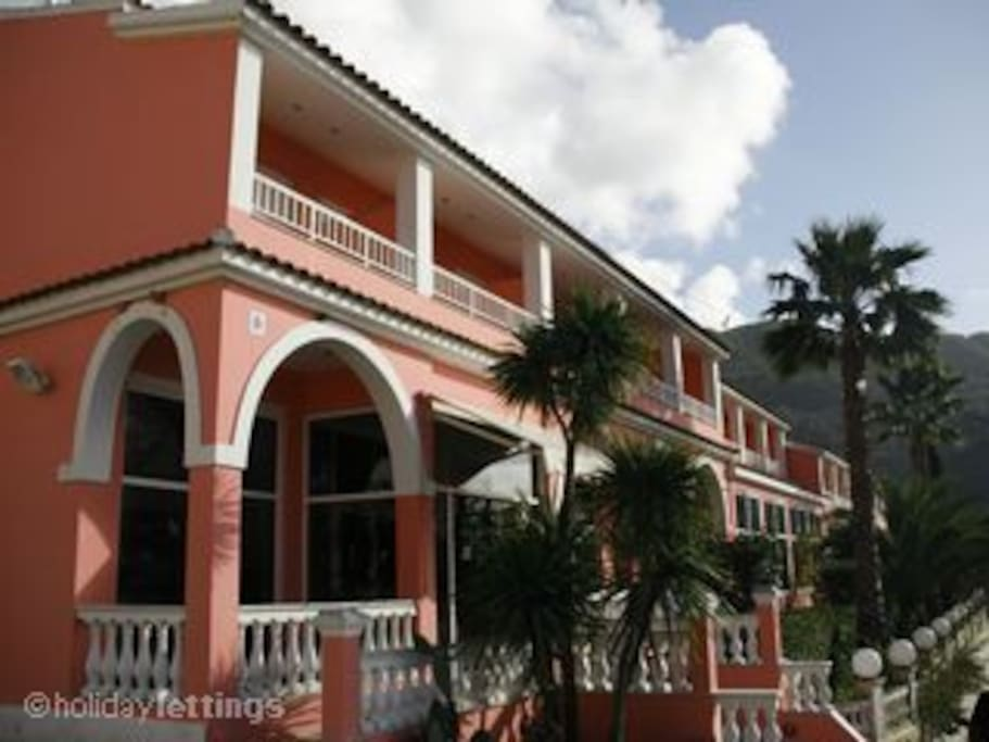 Main building with reception, lobby with Free  WIFI, 24 hour bar