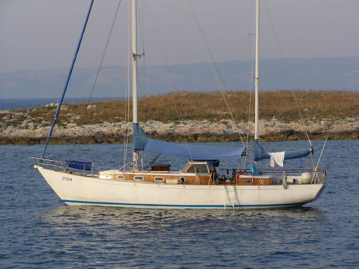 Classic 45 ft wooden Ketch SARACEN