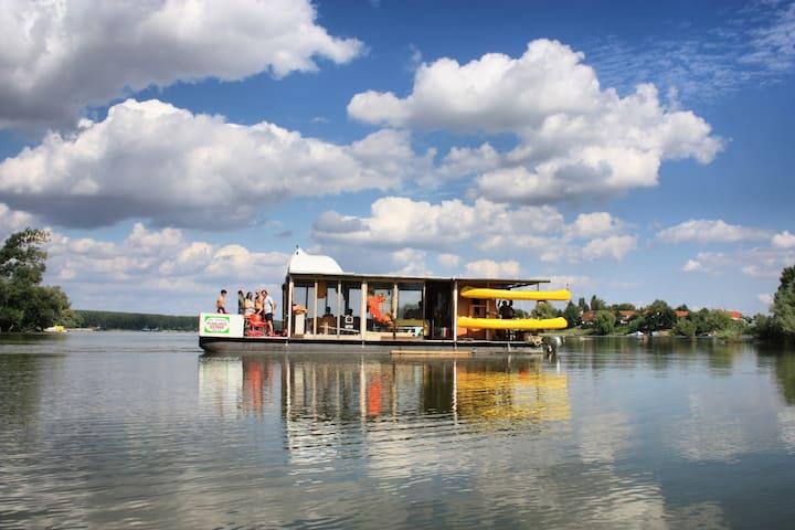 "Catamaran boat ""Floating island"""