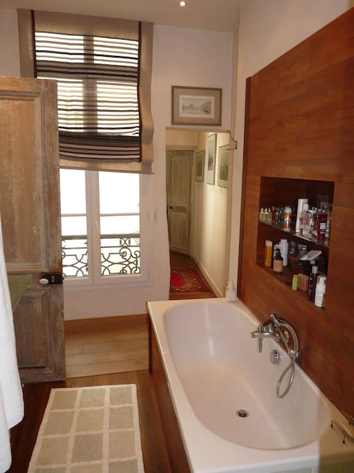 Main bathroom(also includes a shower in addition to tub and its shower spray)