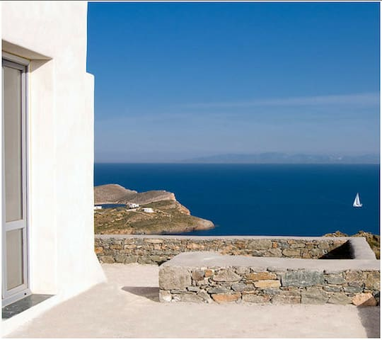 great view to all aegean sea for 4 - Syros - Villa
