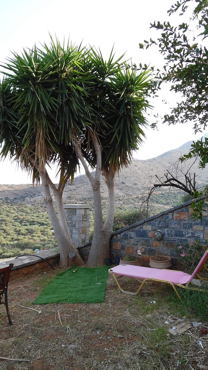 Sunny Studios with view in Elounda