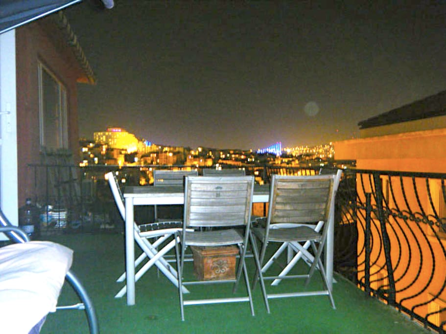 Night view at our terrace