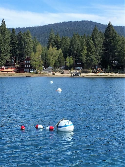 just placed deep water buoy is included!  bring the water toys and boat