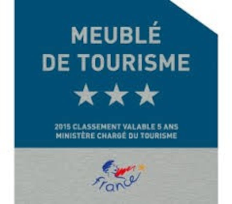 homologation du gite ' 3 étoiles' par le département  et l office du tourisme  de redon